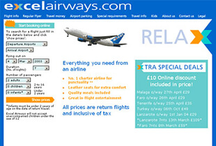Excel Airways - Website